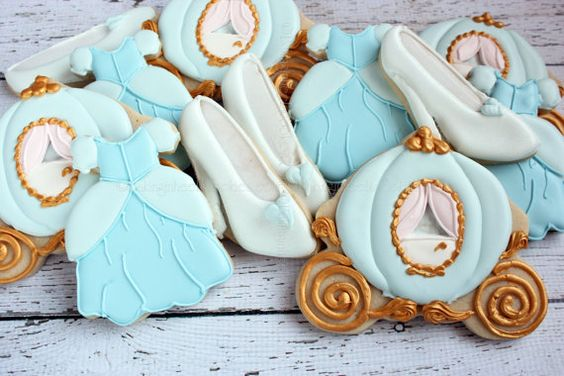 Cinderella biscuits for dessert table