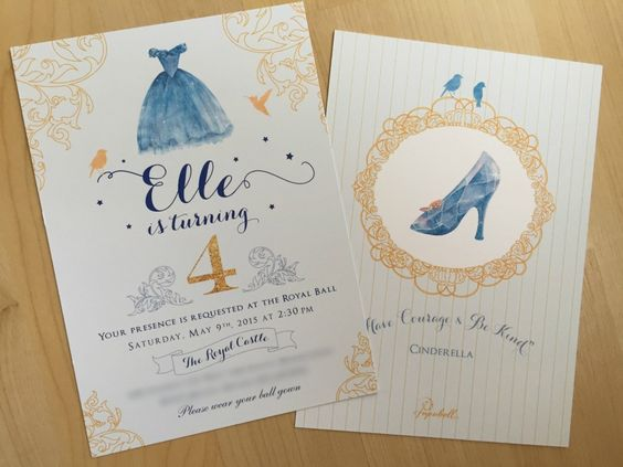 Cinderella invitations (2)