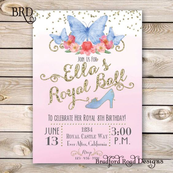 Simple Cinderella Invitations (4)