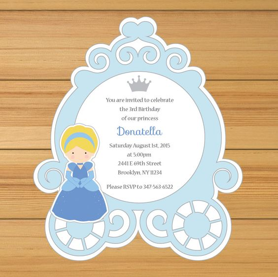 Simple Cinderella Invitations