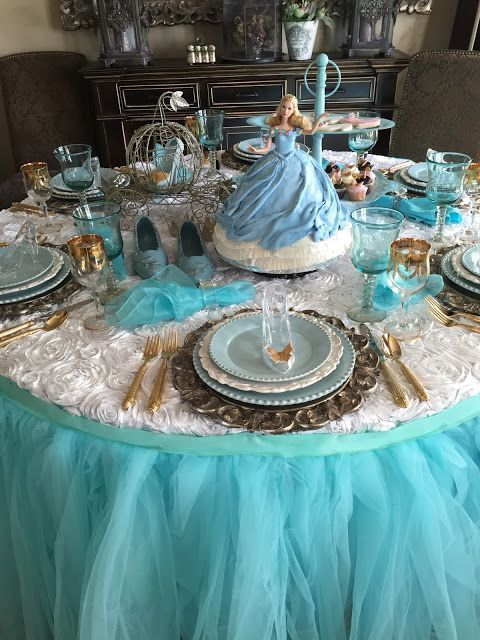Cinderella table centerpieces