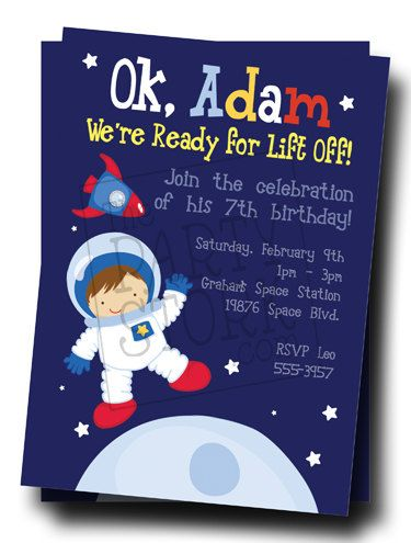 Astronaut Invitations