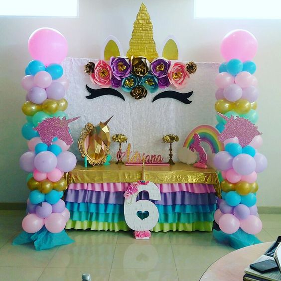 decoration of main table party of unicorn (12)