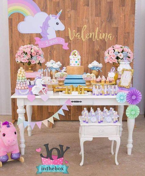 decoration main table party unicornio baby