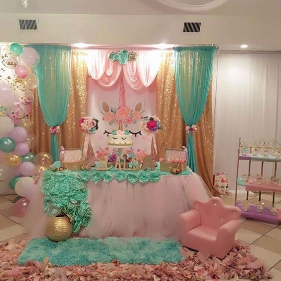 decoration of main table party of unicorn (15)