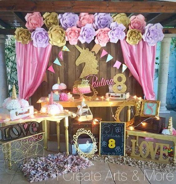 main table decoration unicorn party (10)
