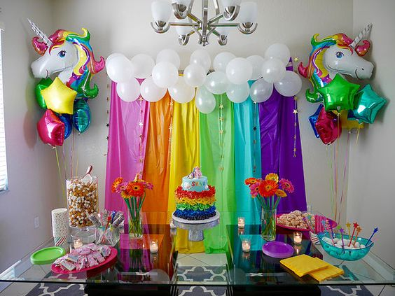 decoration with balloons main table party unicornio (6)