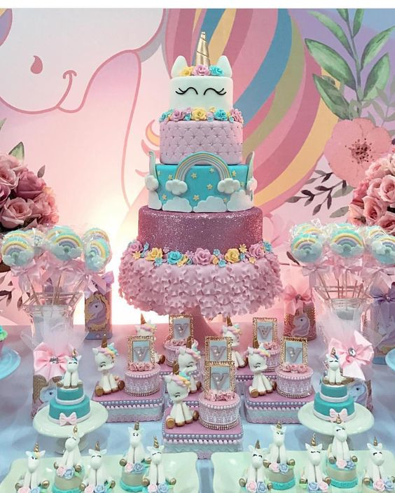 dessert table for unicorn party (5)