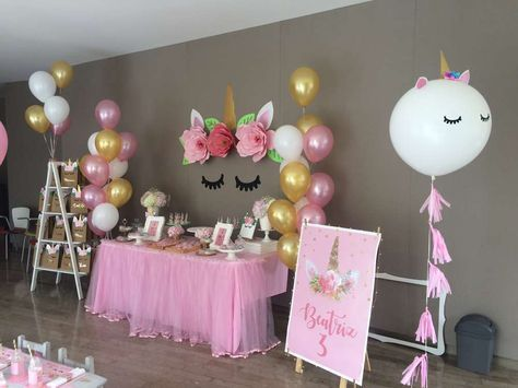 decoration with balloons main table party unicornio (4)