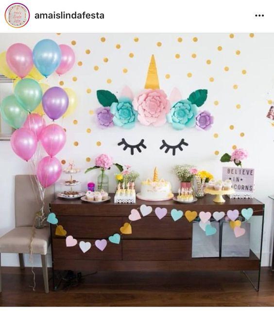 main table decoration unicorn party (4)