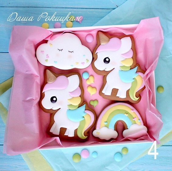 sandwiches and cookies for unicorn party dessert table (11)