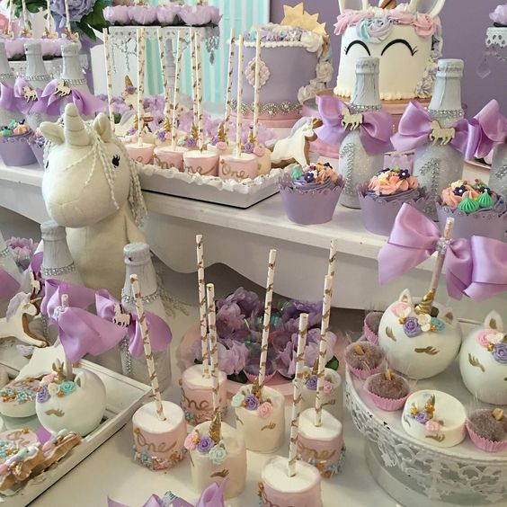 sandwiches and cookies for unicorn party dessert table (4)