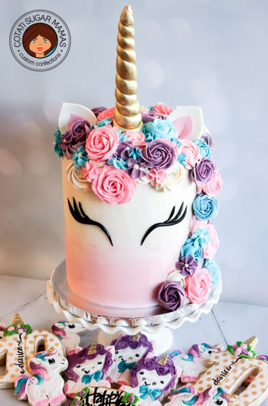 simple cake for unicorn party (5)