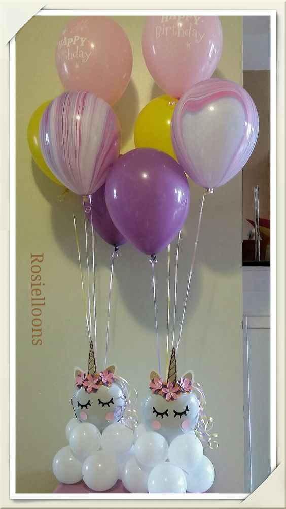 centerpiece with unicorn party balloons (3)