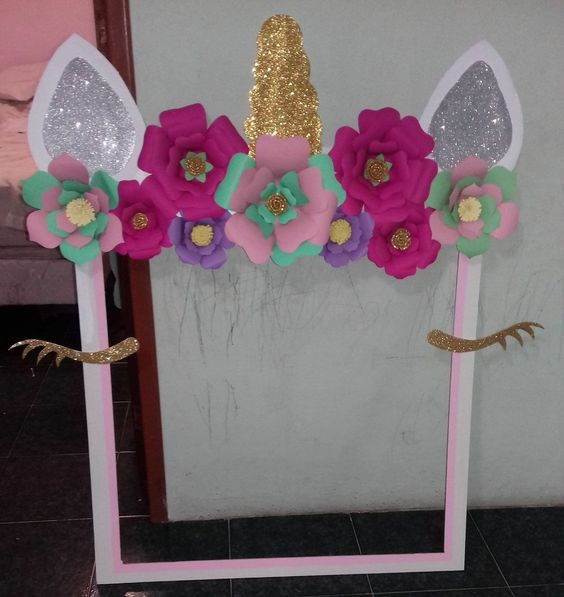 photo frame for unicorn party (1)