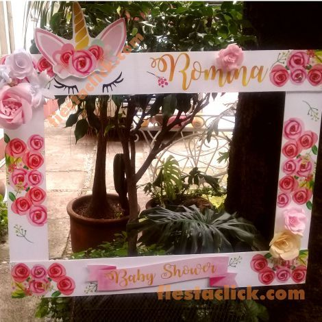 photo frame for unicorn party (5)