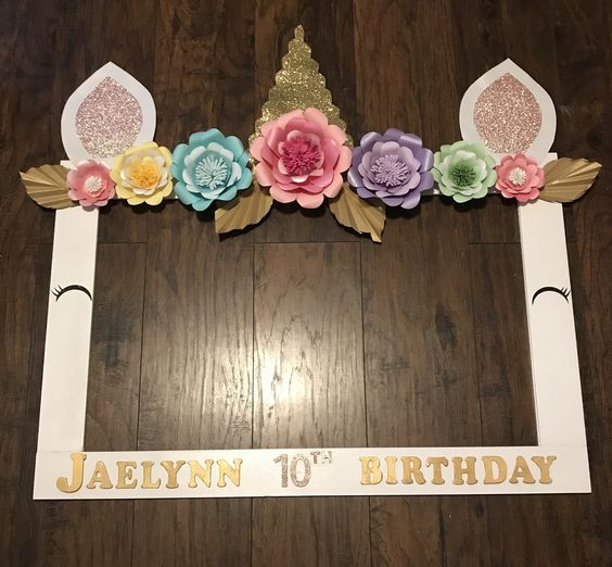 photo frame for unicorn party (3)
