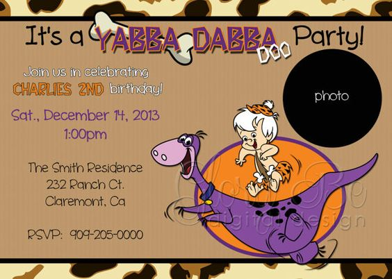 party invitations bam bam