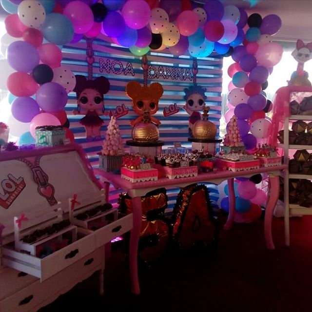 general decoration for a party of girl dolls lol (4)