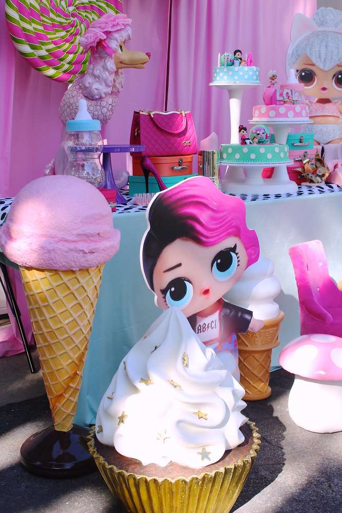 decoracion de la entrada fiesta muñecas lol (2)
