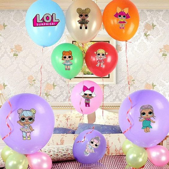 decoration with balloons party nina theme dolls lol