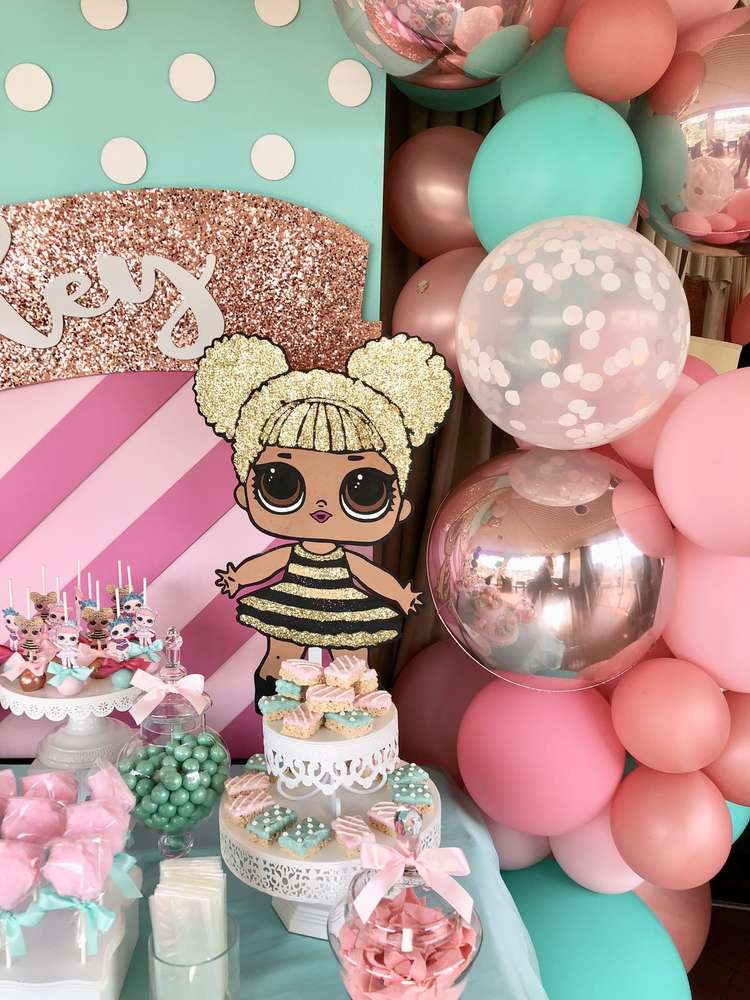 how to decorate a birthday party for nina dolecas lol (3)