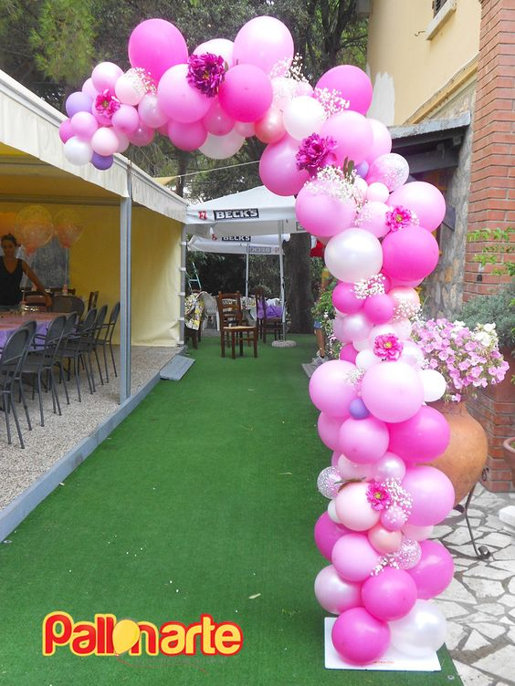 balloon arch for the entrance of a party of nina (5)