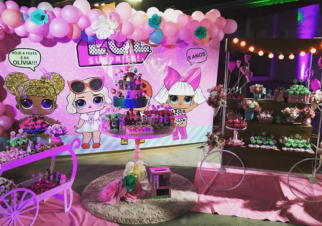 decoration with balloons party nina theme dolls lol (4)