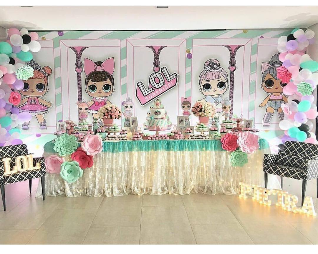 decoration with balloons party nina theme dolls lol (3)