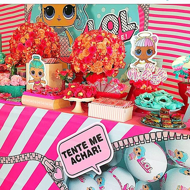 dessert table for children's party theme dolls lol (2)