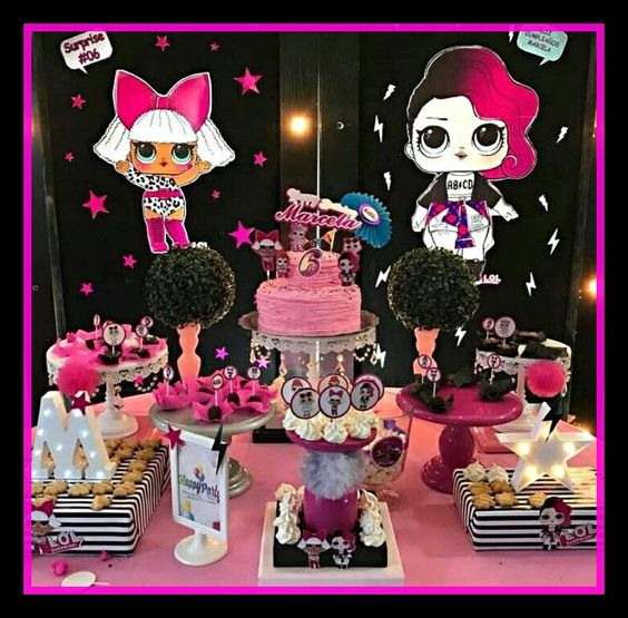 ideas to decorate main table party nina theme dolls lol