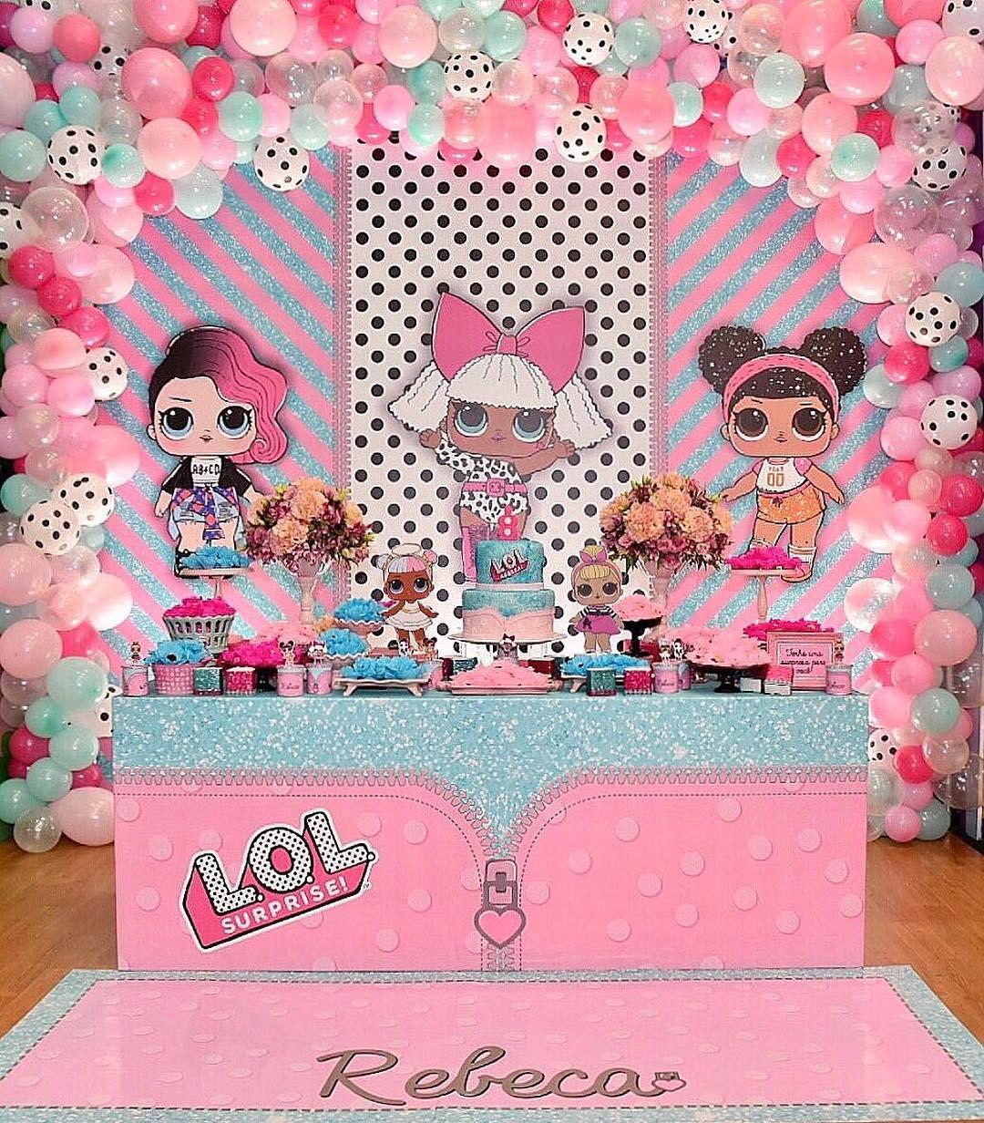 dessert table for children's party theme dolls lol (5)