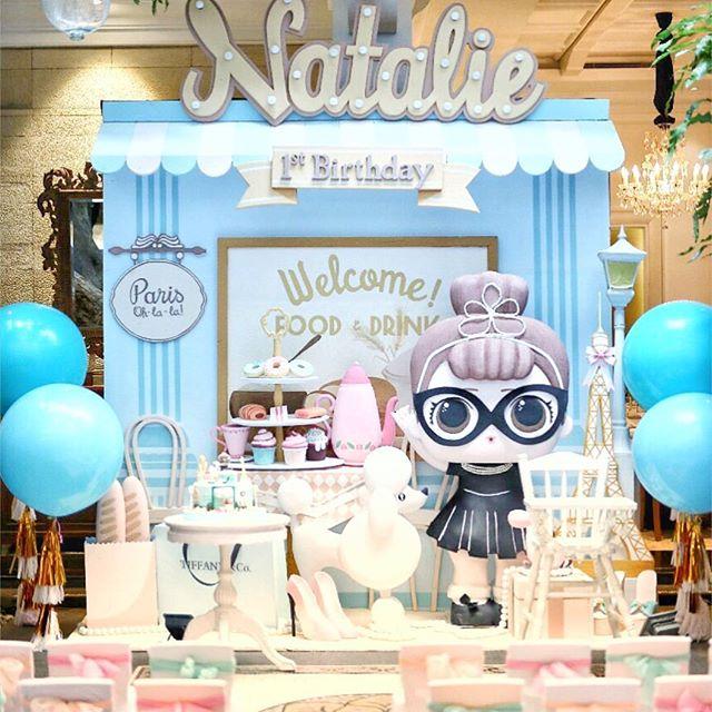 dessert table for children's party theme dolls lol (4)