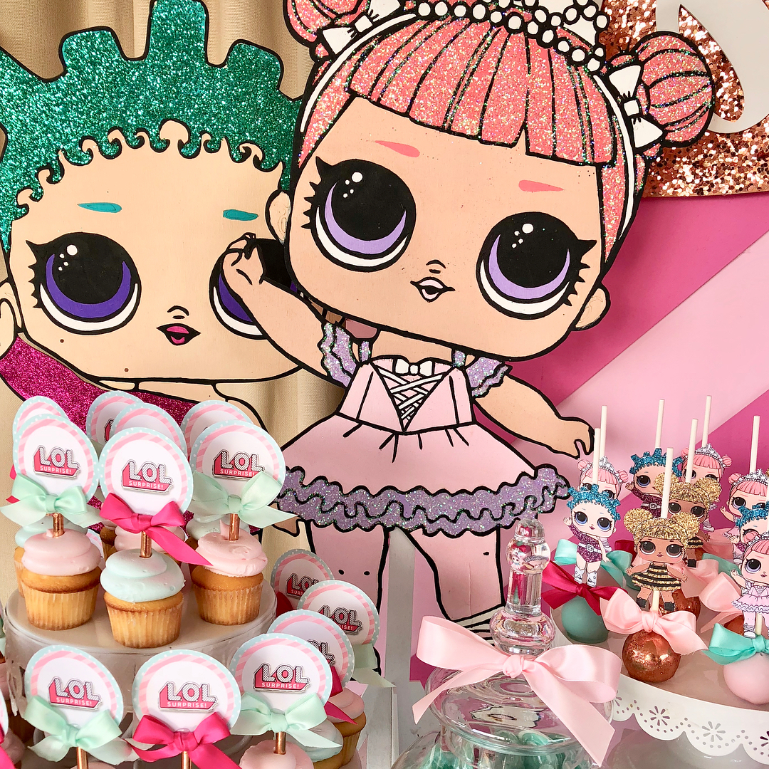 dessert table for girl party theme dolls lol (3)
