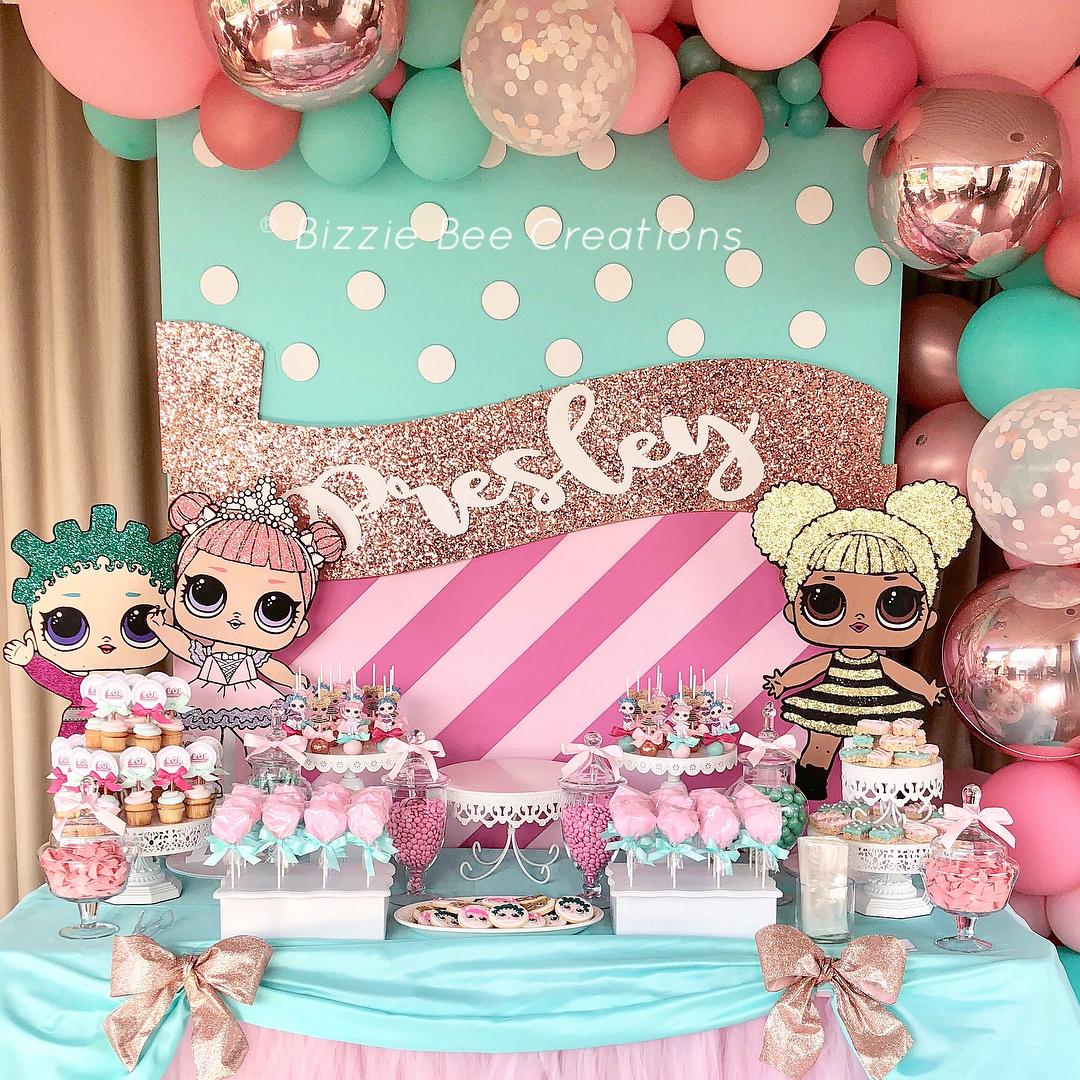 dessert table for party nina theme dolls lol