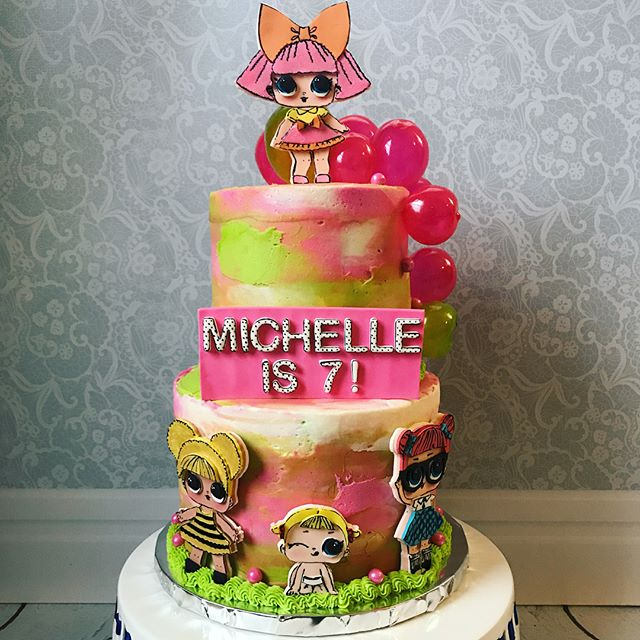 designs of cakes for nina theme dolls it (2)