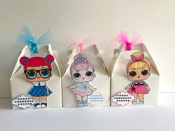 candy for girl's party with theme dolls lol