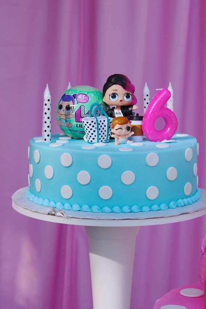 birthday cake a floor theme doll lol (2)