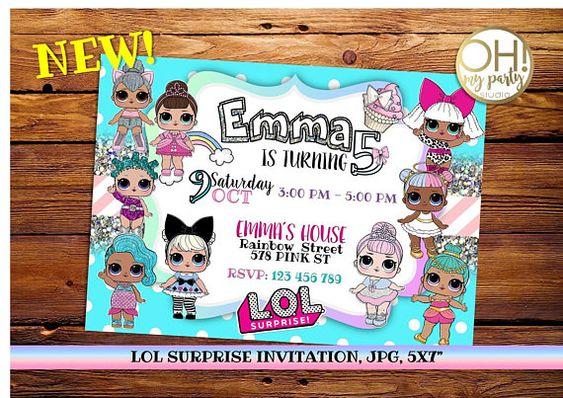 invitations for party nina theme dolls lol (2)