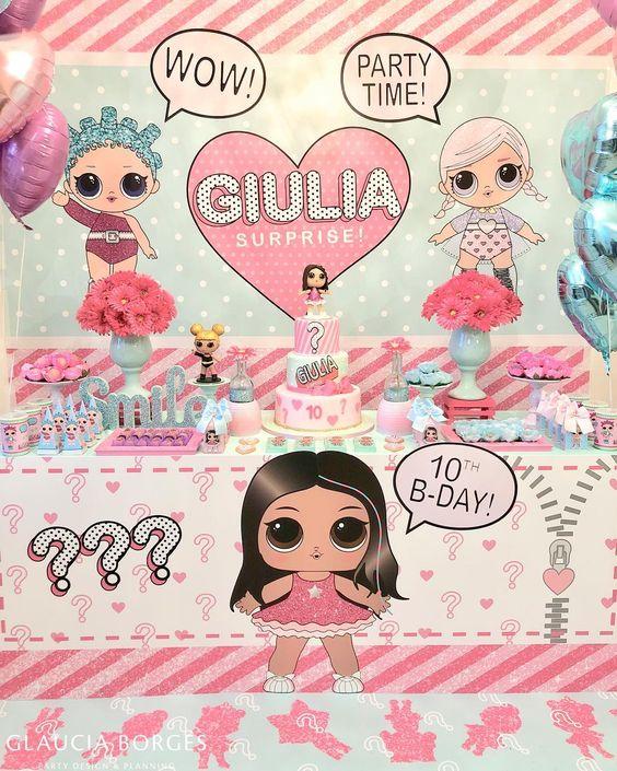 simple invitations to party nina theme dolls lol