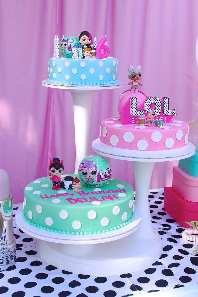 fondant cake for nina theme doll lol