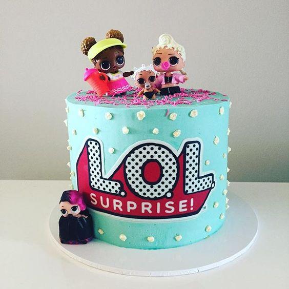 birthday cake a floor theme doll lol (4)