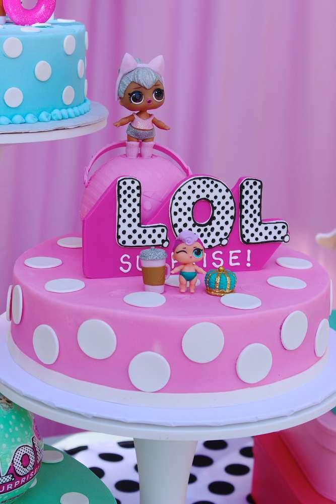 birthday cake a floor theme doll lol (1)