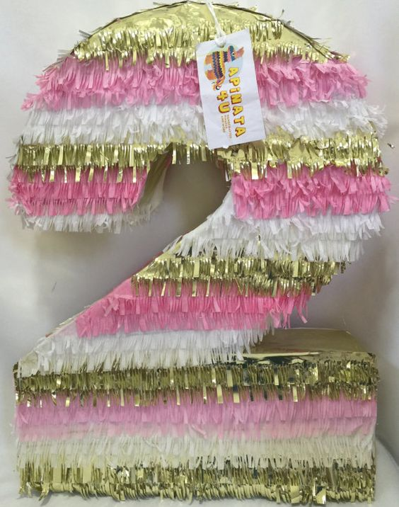 pinata for girl in the form of number (6)