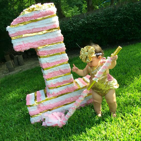 pinata for girl in the form of number (4)