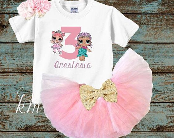 tutu for girl with lol doll theme (1)