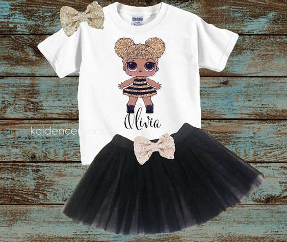 tutu for girl with theme doll lol