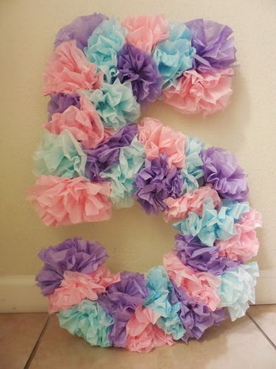 pinata for girl in the form of number (3)