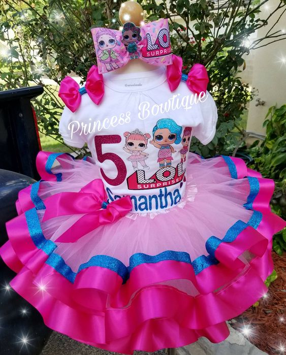 tutu for girl with lol doll theme (2)