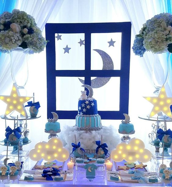 Ideas for a Baby Shower with a theme of stars and moons
